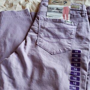 NWT - purple skinny ankle jeans